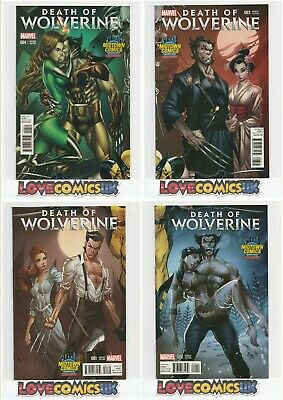Death Of Wolverine #1,2,3,4 Midtown Campbell Variants Marvel Comics