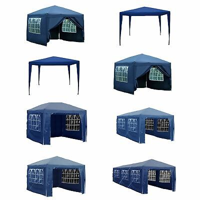 Gazebo Party Tent Marquee Garden Outdoor Canopy Waterproof Pop Up Sides Blue