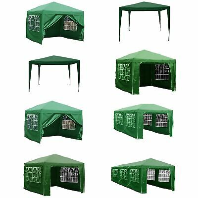 Gazebo Party Tent Marquee Garden Outdoor Waterproof Standard or Pop Up Green