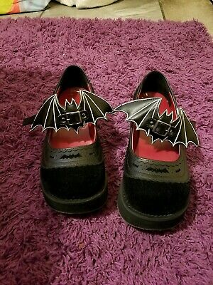 6e9d486672d5 Demonia SPRITE-09 Black Vegan Leather-Velvet Platform Mary Jane Bat on Ankle