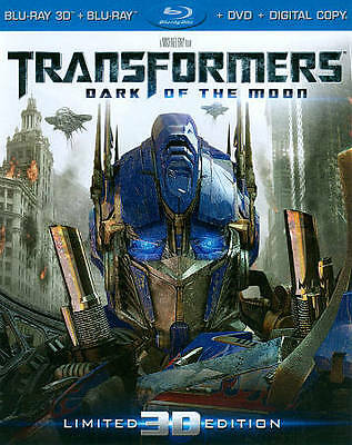 Transformers: Dark of the Moon *3D* w/Slip Cover(Blu-ray/DVD, 2012, 4-Disc Set,