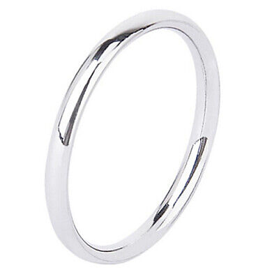 2mm Unisex Couple Stainless Steel Fit Plain Wedding Band Ring Latest