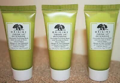3 x Origins Drink Up Intensive Overnight Face Mask 0.5 oz Travel Size 1.5 total