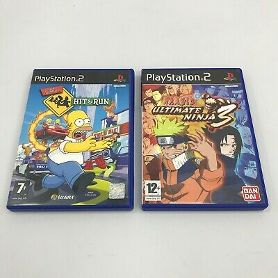 PS2 Games The Simpsons Hit & Run & Naruto Ultimate Ninja 3 FR511134