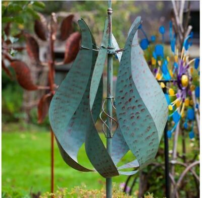 Jonart Designs- Jubilee Wind Sculpture Verdigris Finish WINDSPINNER Sp405