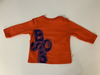 Hugo Boss Baby Boys Long Sleeve Top, T Shirt, Size Age 12 Months, 74 Cm