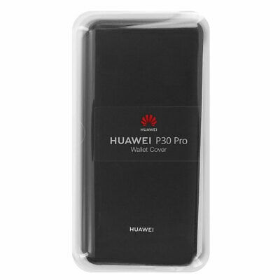 Genuine Huawei P30 PRO Wallet Faux Leather Flip Cover Case Black 51992866