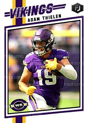 ACEO ADAM THIELEN MINNESOTA VIKINGS CUSTOM HAND MADE ART CARD