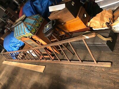 Vintage Old Antique 20ft Wooden Ladder - great cond.