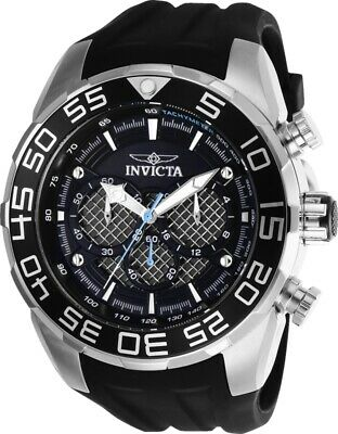 Invicta Watch Speedway Mens 50 mm Silver, Black Dial Model-26314
