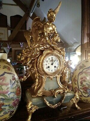 Antique french mantle clock, Mougin Deax Medalles, circa 1880, stunning clock