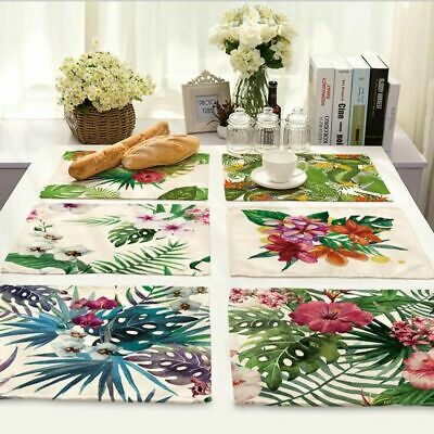 Tablecloth Placemat Kitchen Dining Table Coasters Non-slip Plate Pads Modern Mat