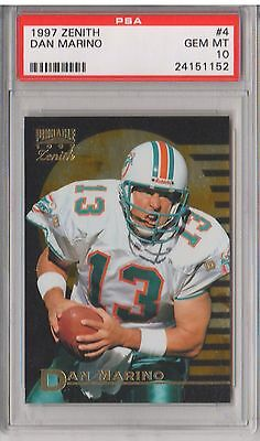 Verzamelingen 1997 Pinnacle Zenith Z Team Promo #ZT2 Dan Marino Miami Dolphins Football Card