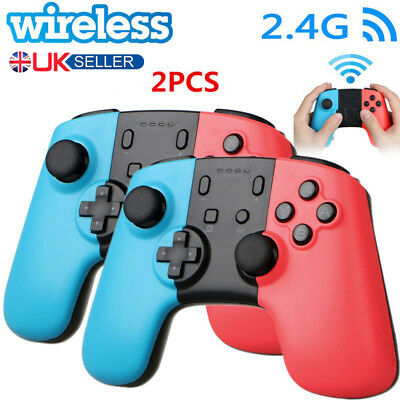 2x Wireless Pro Controller Joypad Gamepad Remote for Nintendo Switch Console
