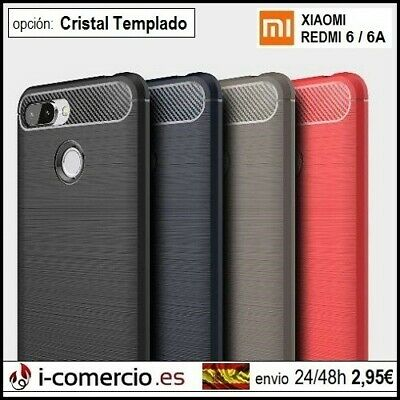 Funda Carcasa TPU Carbono Carbon Tough Rugged Slim Case Xiaomi Redmi 6 / 6A