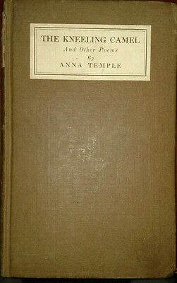 Vintage Hardcover The Kneeling Camel And Other Poems By Anna Temple