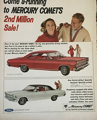 PRINT AD MERCURY COMET 1966 Come a-running to MERCURY COMET'S 2nd Million Sale!