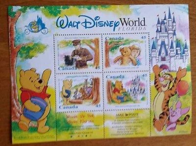 Canada Mint Stamps MNH - 45¢ Winnie The Pooh Souvenir Sheet of 4