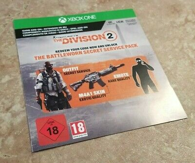 The Division 2 Battleworn Secret Service Pack DLC (Xbox One) *DLC ONLY/NO GAME*