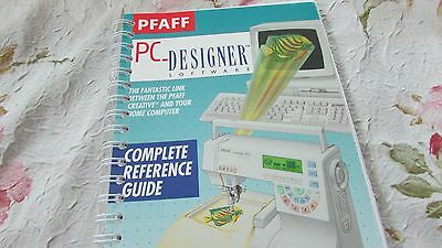 Pfaff 7560 7570 PC Designer Software ORIGINAL MANUAL NEW EXCELLENT