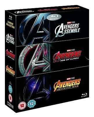 Avengers Trilogy 1-3 Assemble + Age of Ultron + Infinity War (Blu-ray, 3 Discs)