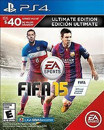 FIFA 15 -- Ultimate Team Edition (Sony PS4, 2014) Brand New Factory Sealed