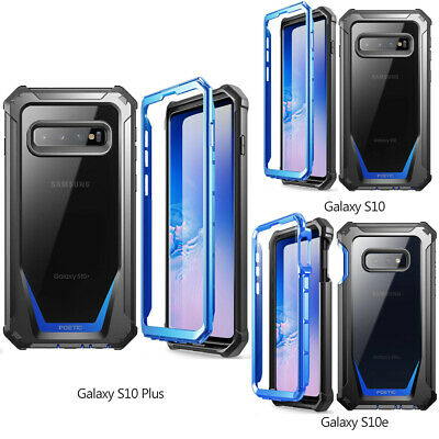 For Galaxy S10e / S10 / S10+ Case [Scratch Resistant Back] Shockproof Cover Blue