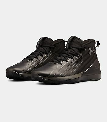 2019 Under Armour Mens UA Lockdown 3 Basketball Black Curry Style Shoes