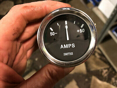 "Smiths Ancillary Battery Charge Ammeter Gauge Chrome Rim 52mm 2"" Classic Kit Car"
