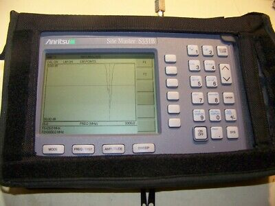Nice Anritsu S331B Site Master with new smart Battery, New Charger Full Test! 2