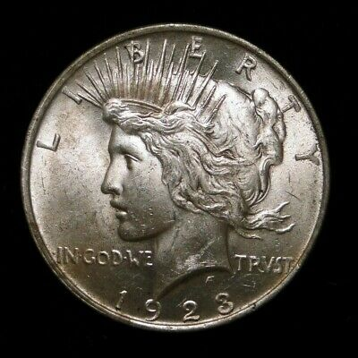 1923 Peace Silver Dollar Old U.s. Type Coin