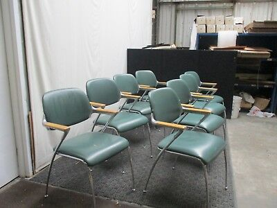 Vintage Set of 8 Thonet Chairs Aluminum Francesco Zaccone Brunner