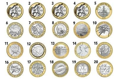 1986 - 2016 British £2 Two Pound Brilliant Uncirculated Coin Choice of Year