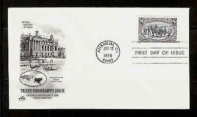 FIRST DAY COVER #3209e Trans-Mississippi 8c Reissue ARTCRAFT U/A FDC 1998