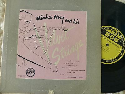 "MISCHA NOVY AND HIS VELVET STRINGS 10"" lp MGM E-546 DG GYPSY VIOLIN"