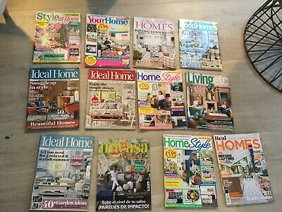 House Home Magazines Bundle X 12. Ideal Home. Good Homes. Living Etc