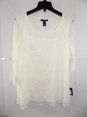 Alfani Women's Plus Size Cloud 3/4 Sleeve Tiered Top NWT Size 0X WTA7030