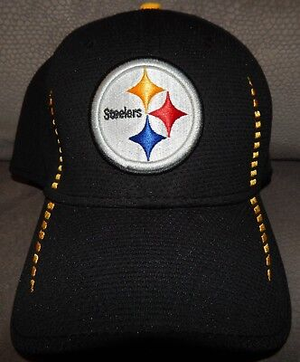 9528a1c8 New Era 39Thirty Pittsburgh Steelers Hat Cap Stretch Fit L XL Adult EUC