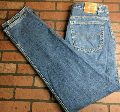 Jeans Levis 540 Relaxed Fit Denim Jeans Mens Light Wash Flex Size 38x29 Made In Usa
