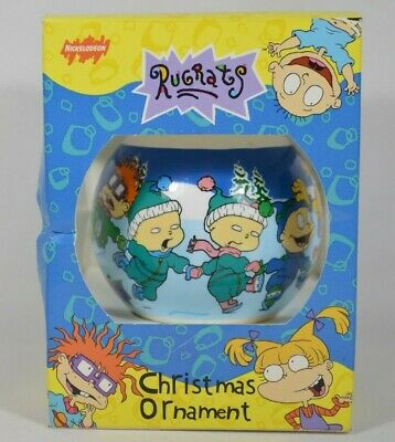 Rugrats Christmas.Vtg 1998 Viacom Rugrats Christmas Tree Ornament Ball Reptar Chuckie Etc Rare