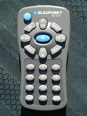 Blaupunkt Sr04 Remote Control Rs-Sir1 For Sirius Satelite Radio Free Shipping
