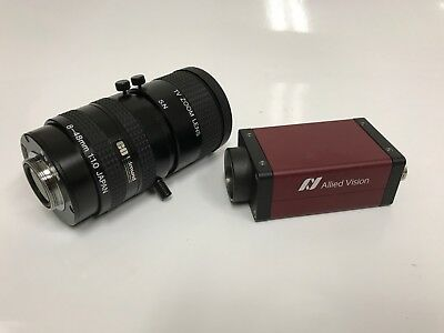 ALLIED VISION MANTA G-033B ASG GigE MONOCHROMATIC VISION CAMERA w/ TV ZOOM LENS