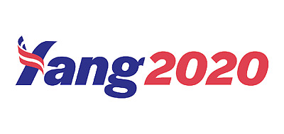 PACK OF 20 - Andrew Yang 2020 Stickers -Free Shipping! -YUUGE Deal!