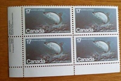 Canada Mint Stamps 1980 MNH LL Plate Block 17¢ Endangered Wildlife