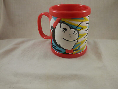 fcf2512a Universal Studios Dr Seuss Cat in the Hat drink Mug plastic NAME JOHN ON MUG