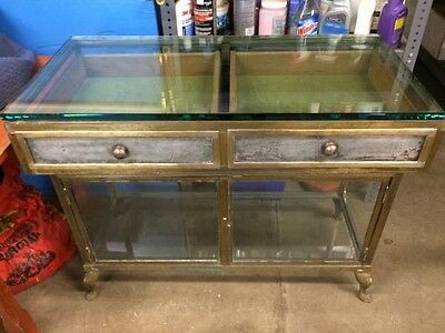 Unique One of a Kind Antique Metal and Glass 19th Century Display Case