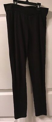 Girl's Poof Black Cotton Spandex Leggings Size Small