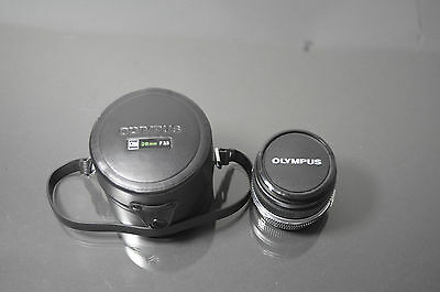 Olympus Zuiko OM system 28mm F3.5 wide angle lens with Olympus #7 extension tube