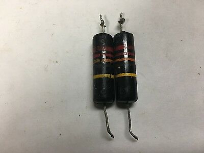 2 VINTAGE SPRAGUE BUMBLE BEE CAPACITORS .022uf@400V