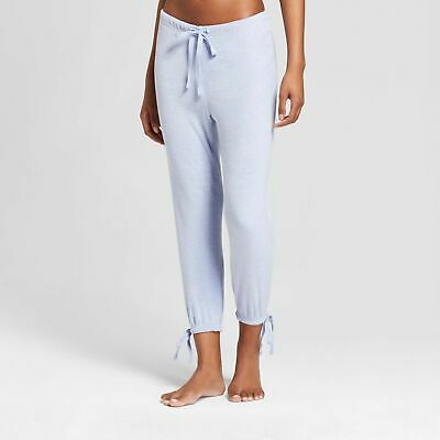 ecfd95d28a43 WOMEN'S CROP TIE PAJAMA PANTS By XHILARATION; BLUE ALL SIZES! BUY 3+ GET